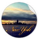 New York Skyline at Sunset Sticker
