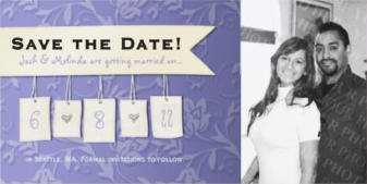 My save the date photo card design just won a today's best award from Zazzle.com!