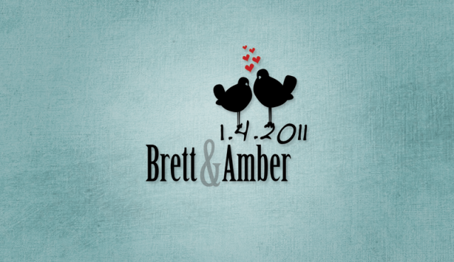 Brett and Amber Lovebirds Wedding Logo