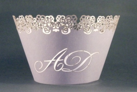 Wedding Logo Cupcake Holder