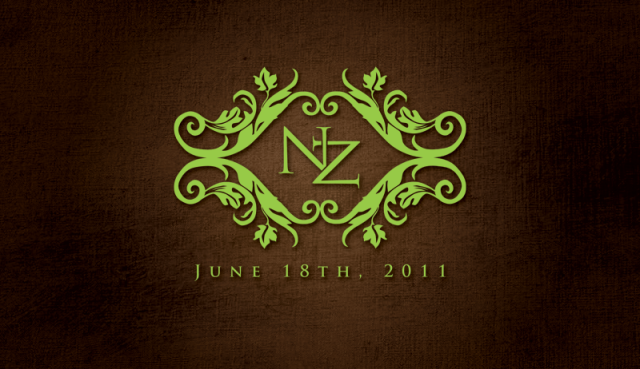 Sophisticated Rustic Wedding Logo