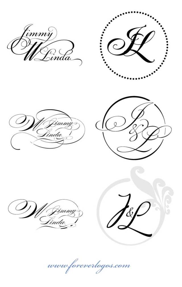 Custom Script Wedding Logos