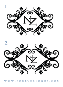 Third round of ideas for Nicole's sophisticated rustic wedding logo.