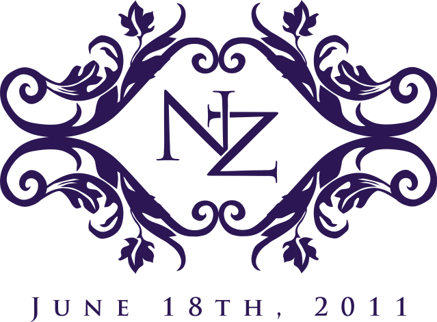 Nicole's sophisticated rustic wedding logo, with the wedding date.