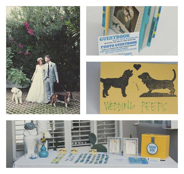 """Puppy Love"" wedding logo inspiration"