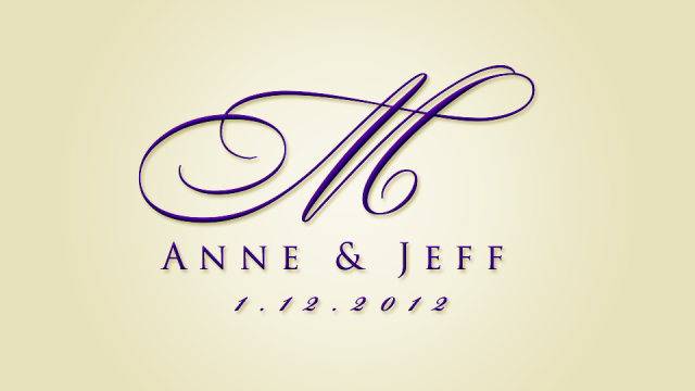 "Wedding logo design for the ""How to create a wedding logo"" instructional video."