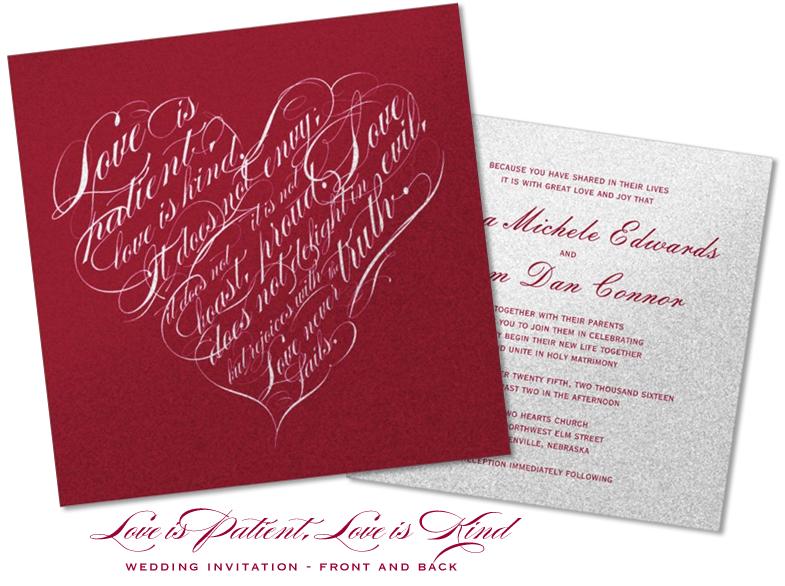 Love Is Patient Love Is Kind Wedding Invitation