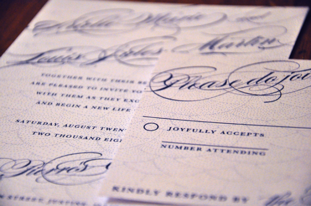 Arielle Wedding Invitation by foreverwedding, close up