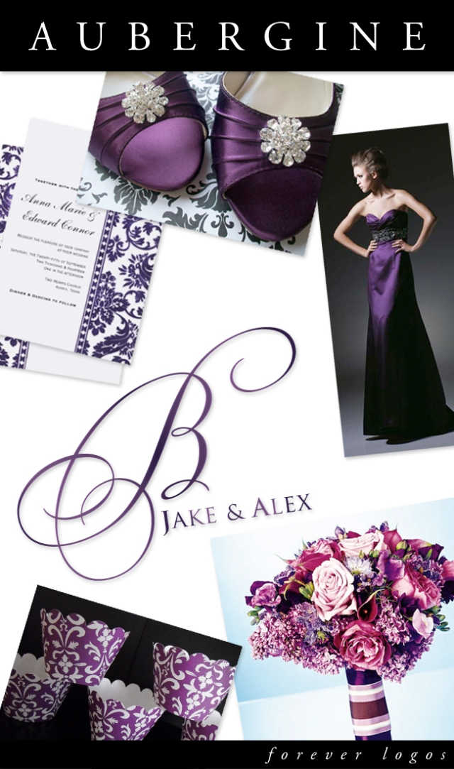 Aubergine Wedding Logo Inspiration