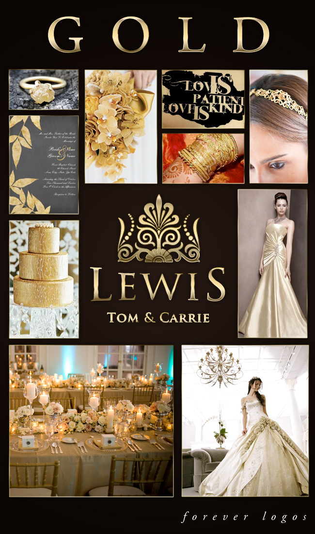 Gold Wedding Logo Inspiration Board